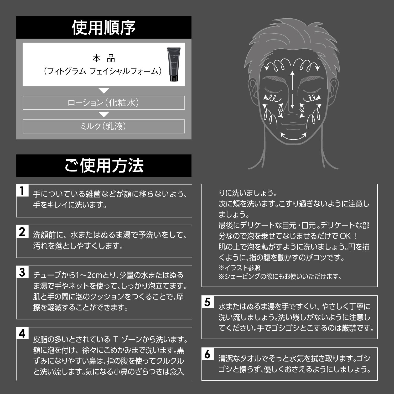 フィトグラムフェイシャルフォームのおすすめ洗顔方法